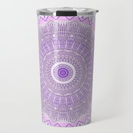Lavender Purple Lace Mandala Travel Mug