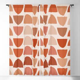 Shapes in Auburn and Terracotta 108 Blackout Curtain
