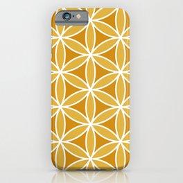 Flower of Life Large Ptn Oranges & White iPhone Case