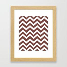 Bole - violet color - Zigzag Chevron Pattern Framed Art Print