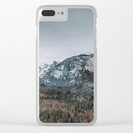 Snow at Yosemite's Tunnel View Clear iPhone Case