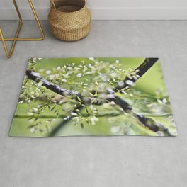 Blades Of Grass On Wire Fence Rug