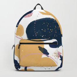 Trendy Pink Blue Strokes Abstract Creative Art Paint Backpack