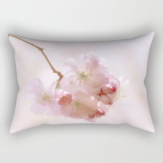 Cherry blossoms in Love - Cherryblossom Flower Floral Rectangular Pillow