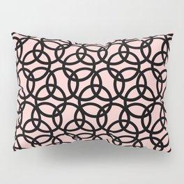 Olympica Black on Blush Pillow Sham