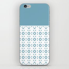 Blueish and Flowerish iPhone Skin