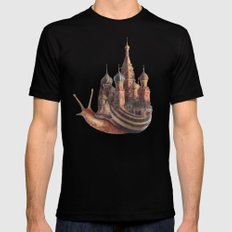 The Snail's Daydream LARGE Mens Fitted Tee Black