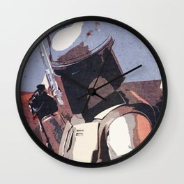 Bobba Fett | The Bounty Hunter | Star War Art Wall Clock