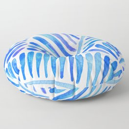 Tropical Banana Leaves – Blue Palette Floor Pillow