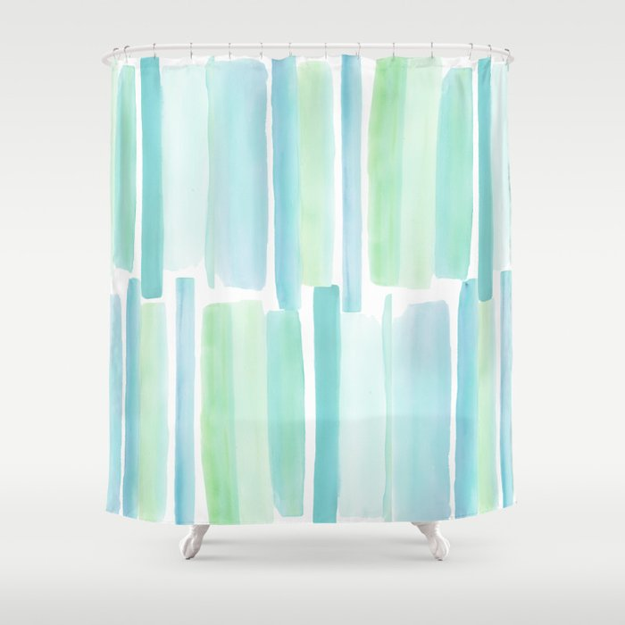 beach glass shower curtain by sweetwilliams society6. Black Bedroom Furniture Sets. Home Design Ideas