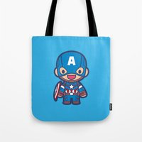 captain Tote Bags featuring Captain by Papyroo