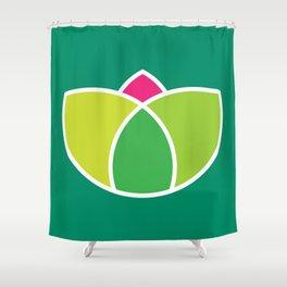 Green Lotus Shower Curtain