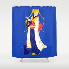 Geisha Moon Shower Curtain