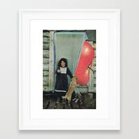 apple Framed Art Prints featuring apple by tareco