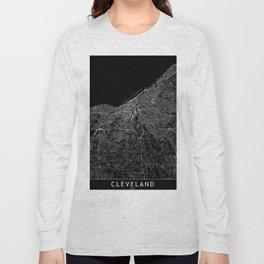 Cleveland Black Map Long Sleeve T-shirt