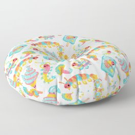 Jelly Polychaete worm Floor Pillow