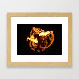 Fire Dancer Framed Art Print