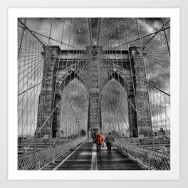 Bridge kid Art Print