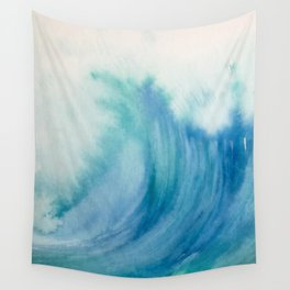 Watercolor Wave Wall Tapestry