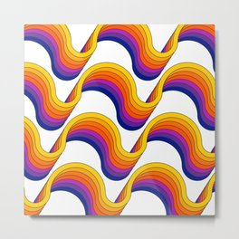 Rainbow Ribbons Metal Print