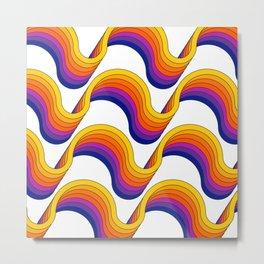 Rainbow Ribbons Metal Print