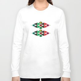 triangle pattern Long Sleeve T-shirt