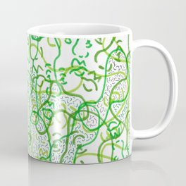 Green on green faces Coffee Mug