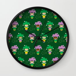 Kawaii jesters Wall Clock