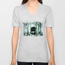 A Quiet Spot (in green) Unisex V-Neck