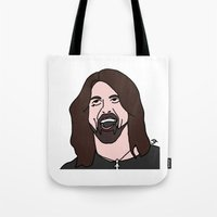 dave grohl Tote Bags featuring Grohl  by Highly Anticipated