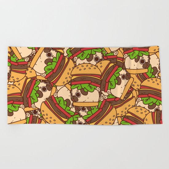 Puglie Burger Beach Towel