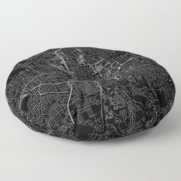 Atlanta Black Map Floor Pillow