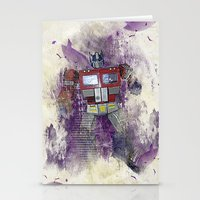 optimus prime Stationery Cards featuring G1 - Optimus Prime by DesignLawrence