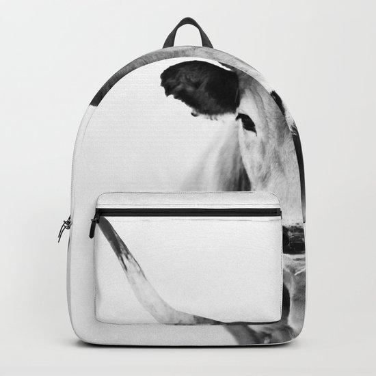 Honey - black and white Backpack