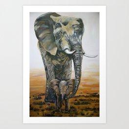 ECHO OF THE ELEPHANTS THE NEXT GENERATION  Art Print