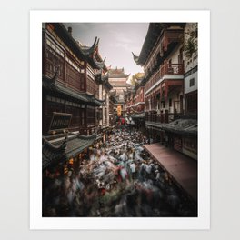 Yu Garden Shanghai Art Print