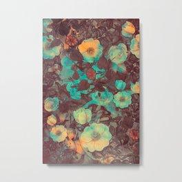 flowers 13 green #flower #flowers Metal Print