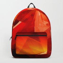 Abstrakt - Feuer der Leidenschaft Backpack