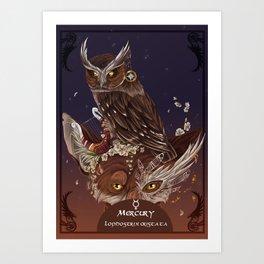 Solarowls mercury  Art Print