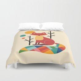 Rainbow Fox Duvet Cover