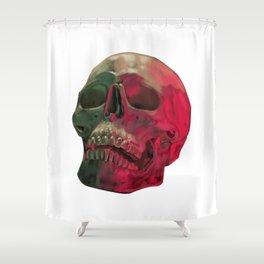Skull Reflet Shower Curtain
