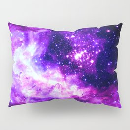 Purple Galaxy : Celestial Fireworks Pillow Sham