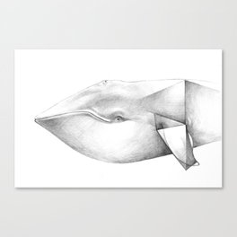 Whale Origami Canvas Print
