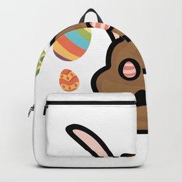 Poop Emoji Easter Bunny Ears Funny Backpack