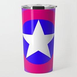 bi pride shield (no text) Travel Mug