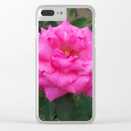 Floral Print 106 Clear iPhone Case