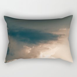 Golden Dusk Sky (Color) Rectangular Pillow
