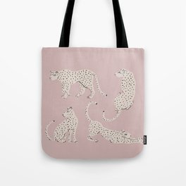 LEOPARD BLOCK PARTY - PINK Tote Bag