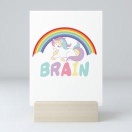 Oh Darling Buy A Brain Sarcasm Unicorn Magical Creatures Magic Fantasy Rainbow Myth Gift Mini Art Print
