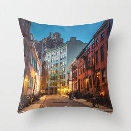 Twilight Hour - West Village, New York City Throw Pillow